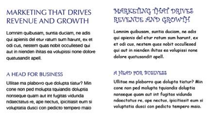Typography example