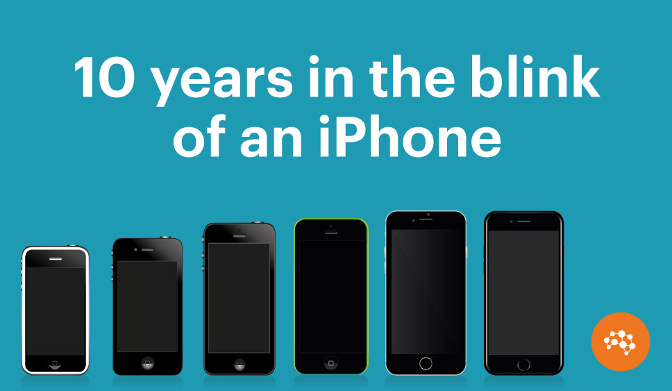 10 years in the blink of an iPhone