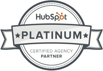 HubSpot Platinum certified agency badge