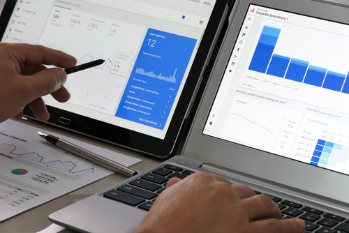 Viewing Google Analytics data